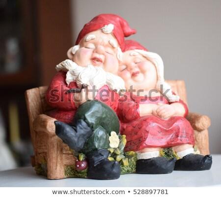 жена Дед Мороз Рождества носок иллюстрация снега Сток-фото © adrenalina