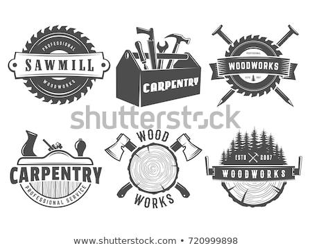 javítás · logo · szerszám · embléma · hangszer · felirat - stock fotó © netkov1