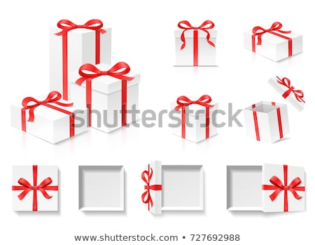 Küp beyaz hediye kutuları 3D 3d render Stok fotoğraf © djmilic