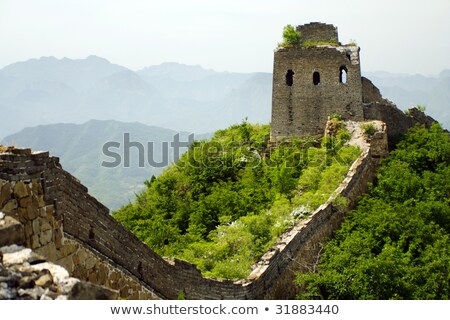Seddi Çin görmek ihmal edilmiş duvar Stok fotoğraf © craig
