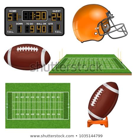 Fußballplatz · Symbol · orange · schwarz - stock foto © angelp
