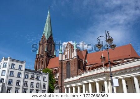 Katedral ünlü tuğla Bina Almanya Stok fotoğraf © LianeM