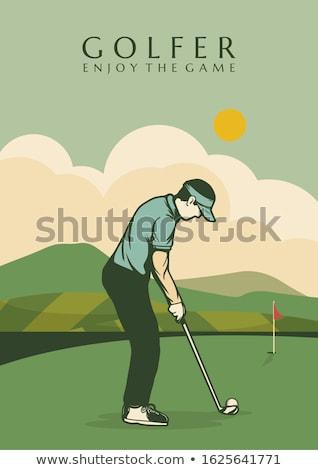 Color vintage golf poster ストックフォト © netkov1