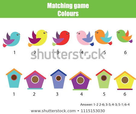 Educational children game. Matching game for kids. Logic activit Stock photo © anastasiya_popov