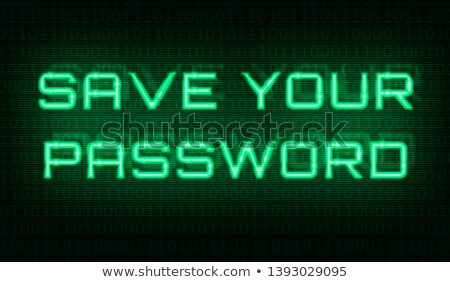 binary code with the words save your password in the center stock photo © zerbor