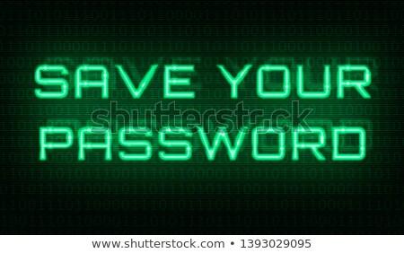 Binärcode Worte sparen Kennwort Zentrum Hintergrund Stock foto © Zerbor