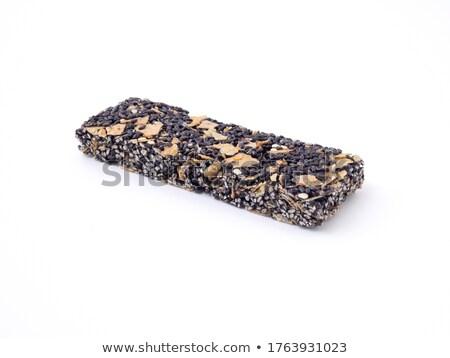 Sesame Seed Bars Isolated On White Background Stock photo © Bozena_Fulawka