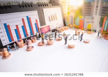 stacked miniature business offices stock photo © solarseven