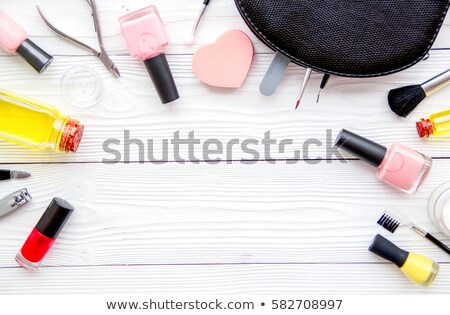 nail polish bottles manicure and pedicure collection stock photo © anneleven