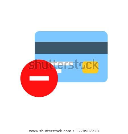 借方 クレジットカード ウェブ セット ベクトル ストックフォト © robuart