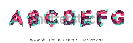 colorful paper cut out font letter b 3d stock photo © djmilic