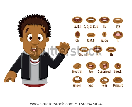 Set of Character Lip-Sync Stock photo © netkov1