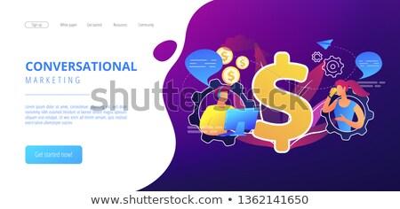 Ventas aplicación interfaz plantilla cliente conversación Foto stock © RAStudio