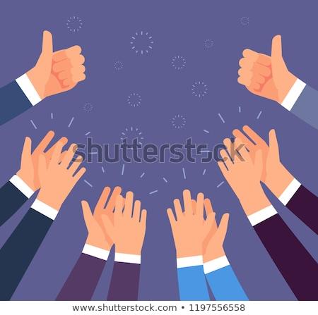 Business compliment handen gelukkig werk Stockfoto © makyzz