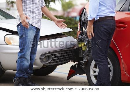 Twee ruzie auto ongeval jonge man Stockfoto © AndreyPopov