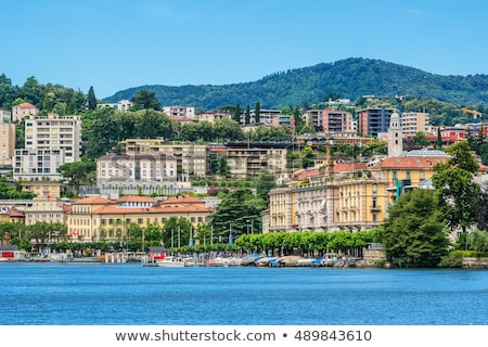 the embankment of Lugano Lake, Switzerland Stock photo © borisb17