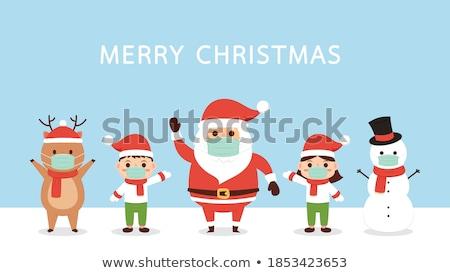 küçük · erkek · aşınma · Noel - stok fotoğraf © nyul