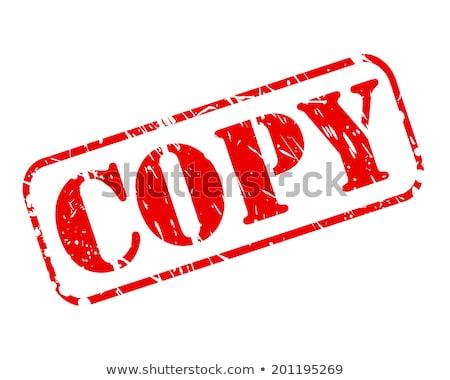Carimbo copiar texto ilustração 3d negócio Foto stock © limbi007