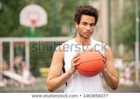 小さな 深刻 多文化の 選手 ボール ストックフォト © pressmaster