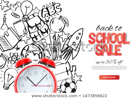 back to school sale landing page template vector illustration for banners invitation poster and we stock photo © ikopylov