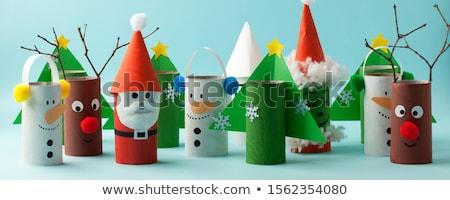Noël · artisanat · chapeau · stockage - photo stock © jsnover