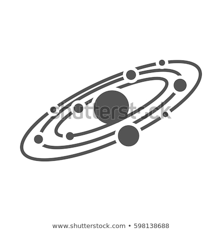 Designed Planet Solar System Monochrome Vector Stock photo © pikepicture