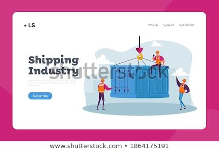Exportar controlar aterrissagem página comércio internacional Foto stock © RAStudio
