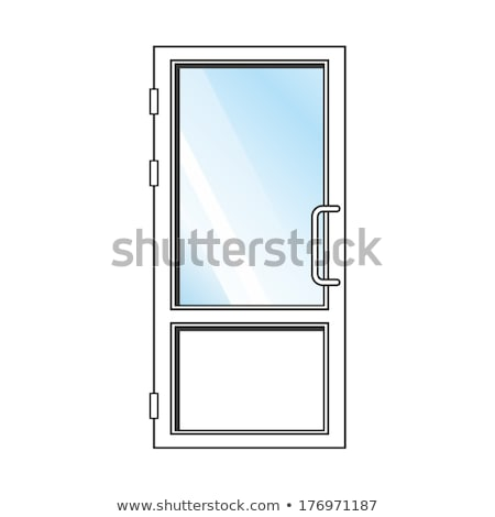 Cam kapı toplama şeffaf basit uzun Stok fotoğraf © robuart