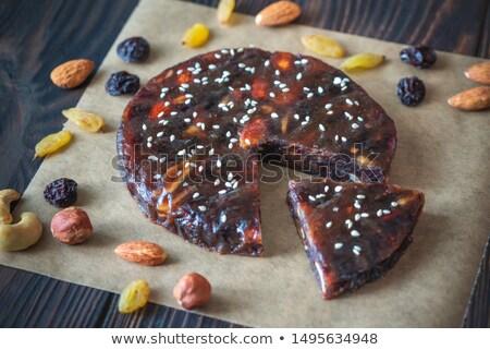 Stockfoto: Pressed Fruit And Nut Cake