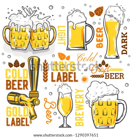cold glass of beer october fest vector Stock photo © vector1st