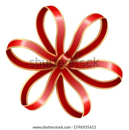 Ribbon Bow Decoration, Stripes Knot Circle Shape Stock photo © robuart