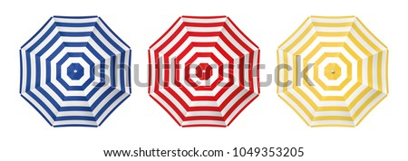 Beach with umbrellas Stock photo © fyletto