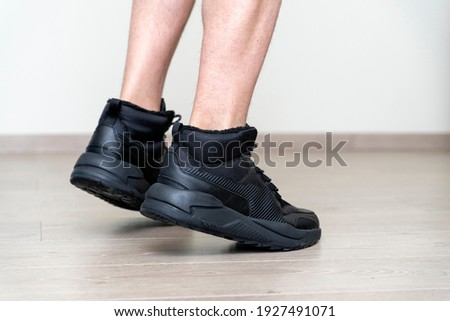 Man ready to fit laminate flooring Stock photo © photography33