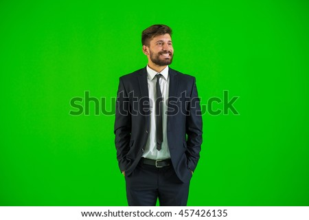 Successful Businessman Standing With Hand In Pocket Stock photo © AndreyPopov