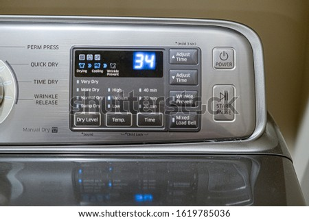 Clothes dryer control Stock photo © njnightsky