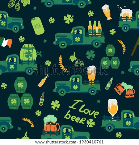 Seamless pattern - All over background - Saint Patrick day Theme background Stock photo © gigi_linquiet