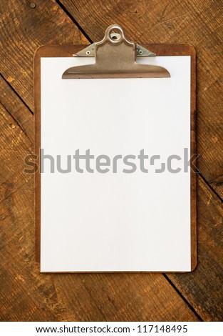 ヴィンテージ クリップボード 古い 木製 デスク 素朴な ストックフォト © tab62