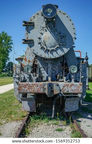 Antigo vapor trem belo velho ferrovia Foto stock © luissantos84