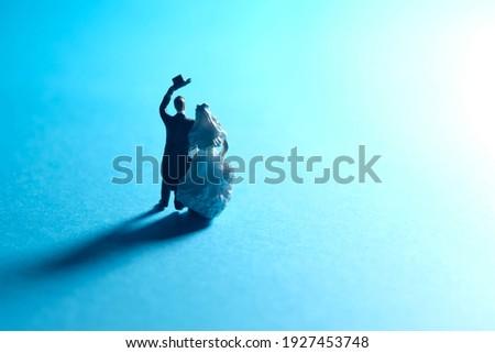 Man looking towards the bright light source Stock photo © stevanovicigor