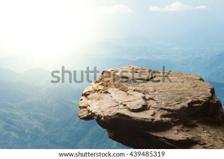 Extreme toeristische permanente rock bergen winter Stockfoto © Kotenko