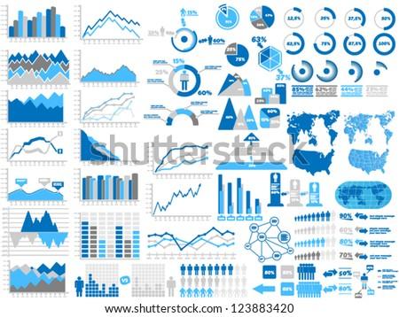 торговый Элементы коллекция тема фондовой бирже Сток-фото © ConceptCafe