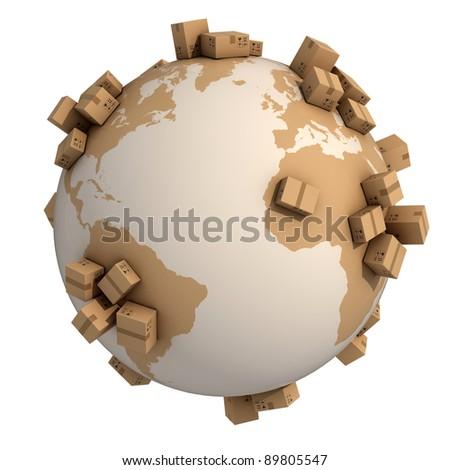Aarde wereldbol 3D 3d render illustratie Stockfoto © djmilic