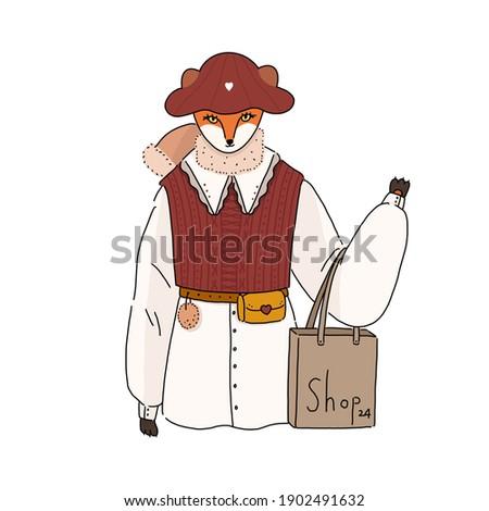 Jovem senhora vermelho colete ilustração Foto stock © bluering