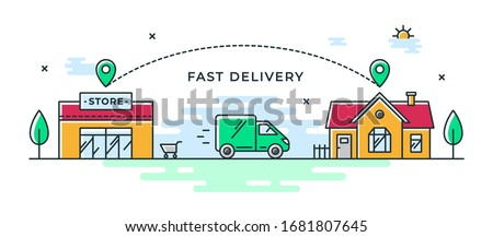 Delivery and Logistics Banner Stock photo © -TAlex-