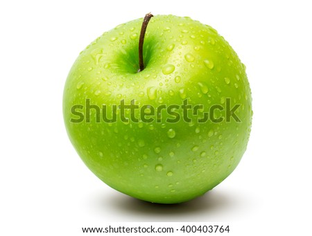 kettő · zöld · almák · mosolyog · sír · fehér - stock fotó © len44ik