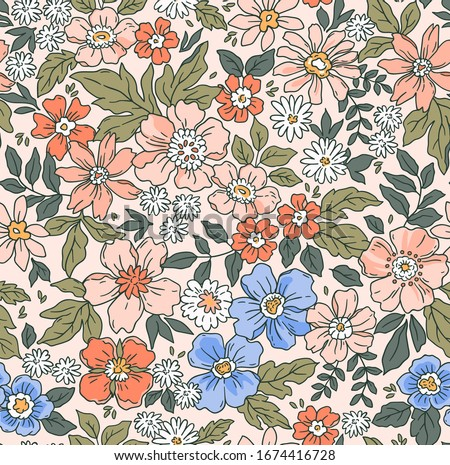 Seamless vintage floral pattern Stock photo © Elmiko
