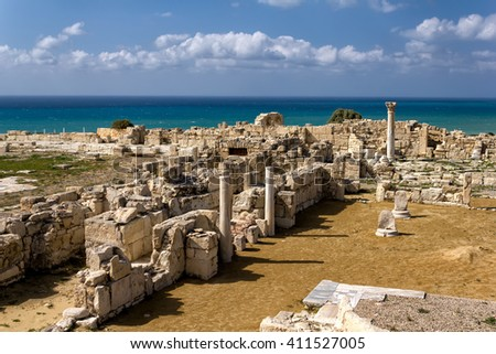 ancient arches at kourion archaeological site limassol district stock photo © kirill_m