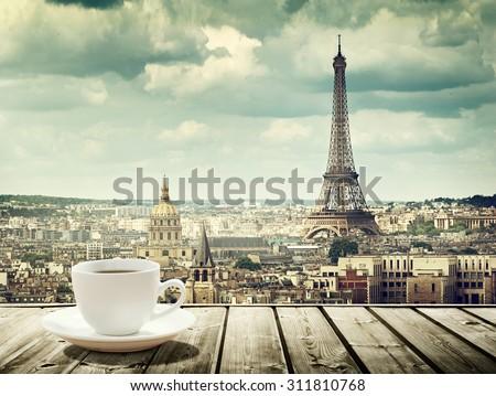 Fincan kahve Paris iki görmek Stok fotoğraf © neirfy