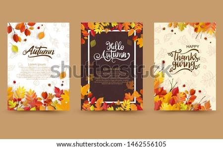 Vettore autunno carta artistico creativo caduta Foto d'archivio © kostins
