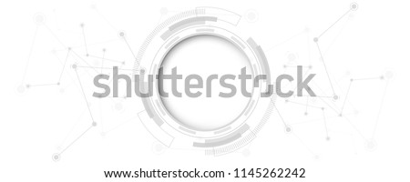 Stock photo: Digital Circle digital technology background, futuristic element design, binary circles. vector illu